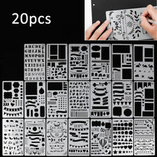 20pcs Bullet Journal Stencil Set Plastic Planner DIY Drawing Template Diary