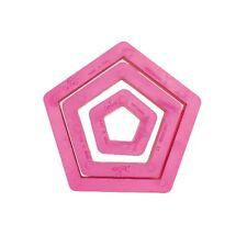 Tagliapasta pentagono set 3 stampi decora forme taglia pasta biscotti - Rotex