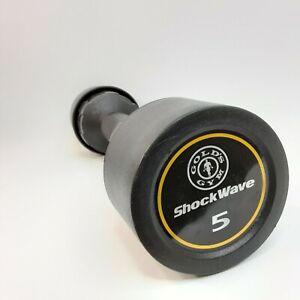 Golds Gym ShockWave 5 Pound Workout Dumbbell, Dual Use, Curling & Shake Weight