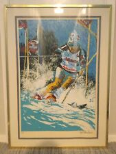 """Paul Blaine Henrie Signed """"Downhill Skier"""" Limited Ed. 25 x 39 (about) Serigraph"""