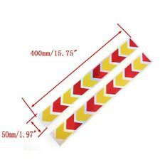 2pcs Red Yellow Arrow Truck Auto Body Reflector Sticker Wear-proof Tape 40cm