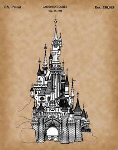 Cinderella's Castle – Vintage Disney Patent Print - Disney Home Décor 11x14