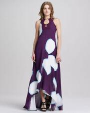 NWT DVF Diane von Furstenberg plum silk Starr maxi evening dress gown, 2 $875