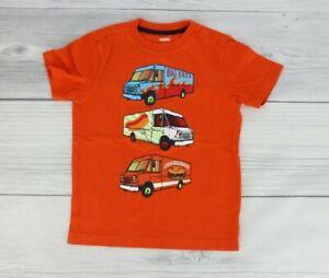 Gymboree Little Boys Food Truck Graphic T Shirt Size 5 Bright Orange