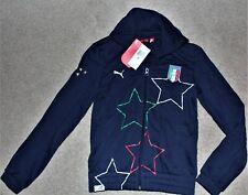 NWT Puma Women XS Italia Soccer Stars Full Zip Track Jacket Mock Neck Sweatshirt