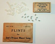 12 GUY'S DROPPER AUTO-LITE JUSTRITE CARBIDE LAMP LARGE FLINTS! MINERS PART