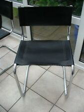 Marcel Breuer for Habitat leather & chrome Cantilever chairs x 4 for renovation