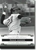 """Reggie Jackson 2012 Hoja """"Exclusivo"""" Coleccionistas Recibidor de Fame Promo!"""