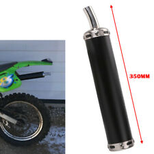 35CM Universal Motorcycle Racing Exhaust Muffler Pipe Silencer with Mountings