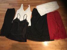 Vintage Half Slip Camisole Lot of 6 Van Raalte Intimate Details Size  S & M