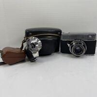 Agfa Optima Rapid 250 Camera with Case and Afga Tully Fan Flash**Untested**