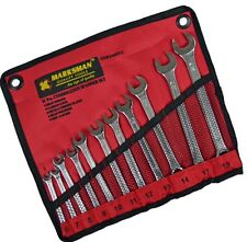 Marksman 11 Piece Combination Spanner Set Wrench with Storage Wallet 6mm-19mm