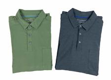 Lot of 2 Tommy Banhama Mens Islandzone Long Sleeve Polo Shirts Green Gray Size L