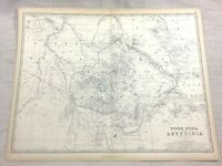 1861 Antique Map of Abyssinia Upper Nubia Ethiopia Hand Coloured Keith Johnston