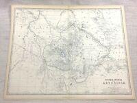 1861 Antik Map Of Abessinien Obere Nubia Äthiopien Hand- Farbig Keith Johnston