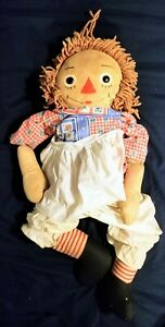 RAGGEDY ANN DOLL Knickerbockers 3 ft 30 in vintage early 1970s Original Clothes