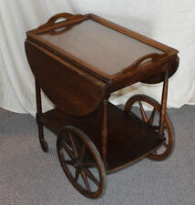 Antique quarter sawn Oak Tea Cart with Removable Serving tray – original finish