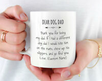 Dog Dad Mug, Personalized Dog Dad Gift From Dog, Personalized Fathers Day Gift
