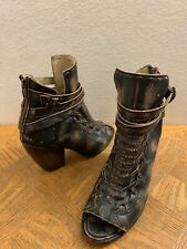 Freebird Boots by Steven Eagle Distressed Black RARE COLOR SIZE 8