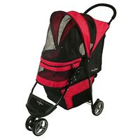 Gen7Pets G7 Stroller Regal™ Plus Pet Stroller Rasberry Sorbet G2320RS TO 25LBS