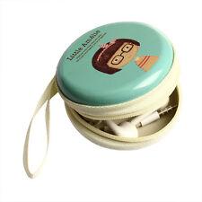 Cute Mini Zipper Storage Case Box Bag Carrying Pouch Earphone Headphone SD Card