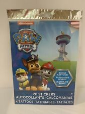 20 Paw Patrol Stickers 4 Tattoos Party Favors Supplies