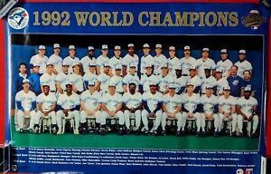 MLB 1992 WORLD SERIES TORONTO BLUE JAYS ORIGINAL POSTER 34 X 22 in. MINT