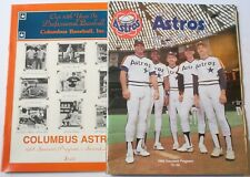 Lot of 2 1988 Houston Astros Minor League Programs Columbus & Osceola