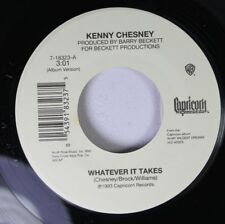 Country Unplayed 45 Kenny Chesney - Whatever It Takes / I'D Love To Change Your
