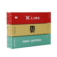 3pcs HO Scale 40ft Containers 1:87 Shipping Container DifferentFreight Car Lot