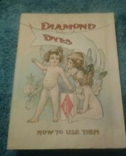 DIAMOND DYES How to Use Them 1920s ADVERTISING PROMOTIONAL BOOKLET  32 pgs
