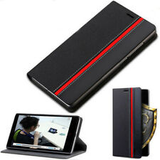Slim Flip PU Leather Wallet Card Slot Pouch Cover Case For Samsung/iPhone Mobile