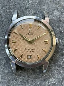 1955 Automatic Omega Seamaster Calendar 2627, Cal 353, Honeycomb Dial