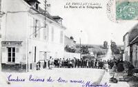 CPA 95 LE THILLAY LA MAIRIE ET LE TELEGRAPHE  (ANIMATION