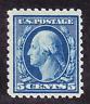 US Scott 466 old 5c Washington regular issue stamp M/H/OG/VF CV $70