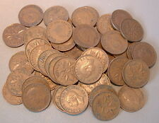 CANADA  1 CENT 1951 VG to F+ ****50 pcs lot*****