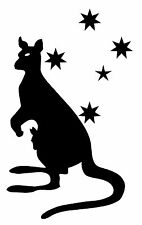 25cm SOUTHERN CROSS & KANGAROO & JOEY quality decal.Car,Ute,4wd,Caravan,Boat.
