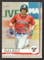 2019 Topps Pro Debut Baseball AUTO Gold #56 Bobby Dalbec 26/50