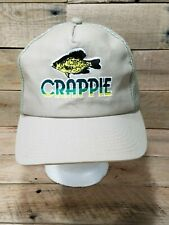 VTG Fishing Missouri Crappie Club Snapback Baseball Cap Hat