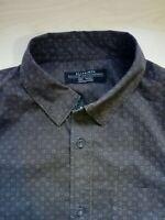 Mens AllSaints Burgundy Long Sleeve Regular Fit Shirt Size Small S