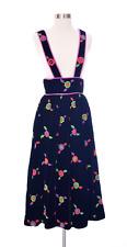 1980s Elizabeth Arden Vintage Velvet Skirt Size Small