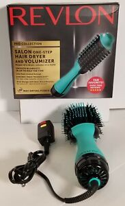 (1) Revlon Pro Collection Salon One-Step Hair Dryer and Volumizer, TEAL Open Box