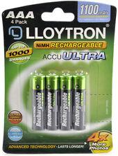 4 x Lloytron 1100 mAh AAA Rechargeable Ni-MH Batteries Phone Remote Camera
