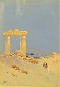 Godwin Bennett (1852-1936) original antique painting Jericho Middle East art