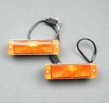 VW GOLF I / II MK1 & MK2 JETTA CADDY POLO FRONT INDICATOR LIGHTS SET AMBER PAIR