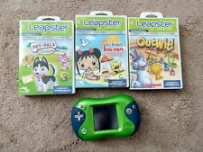 LEAPSTER 2 LEARNING VIDEO GAME SYSTEM USED with 3 games outwit petpals kai-lan