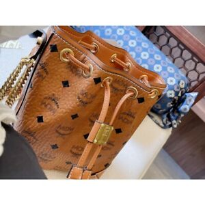 Brand new authentic MCM shoulder bag ladies messenger bag detachable chain strap