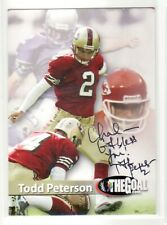 TODD PETERSON SAN FRANCISCO 49ERS GEORGIA PERSONALIZED BIO AUTOGRAPHED CARD