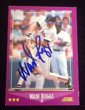 WADE BOGGS 1988 SCORE Autographed Signed AUTO Baseball Card 2 RED SOX HOF