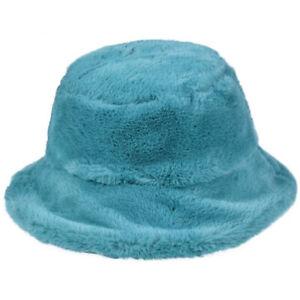 FLUFFY BUCKET HAT SOFT PLUSH FESTIVAL COLOUR HATS CAP BEANIE RAVE DANCE SUN